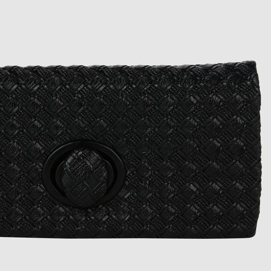 Textured Flap Clutch