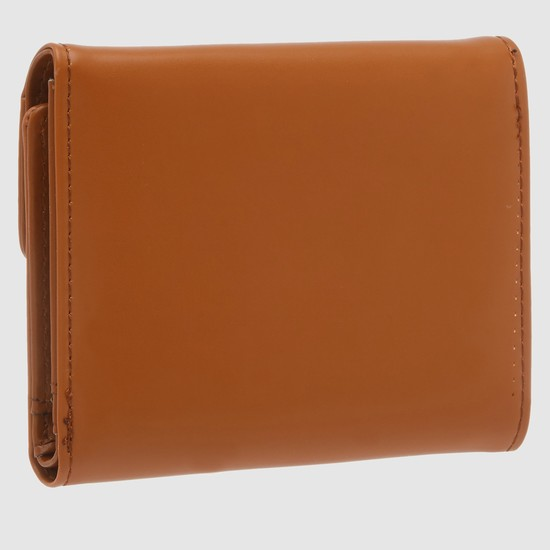 Tri-Fold Wallet with Snap Closure