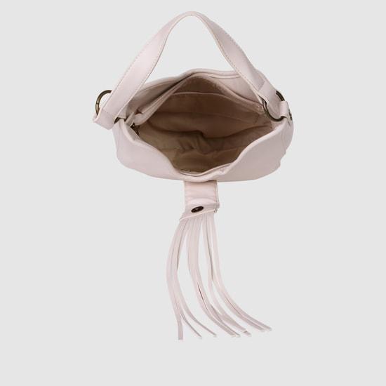 Hobo Handbag with Plait Detailing
