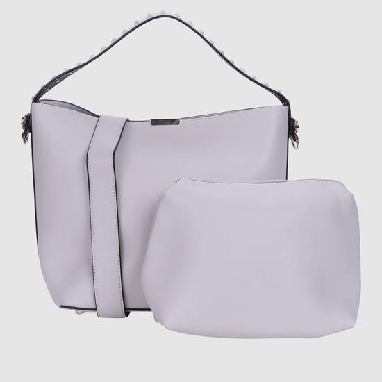 حقيبة يد بحقيبة صغيرة بتصميم مرصّع