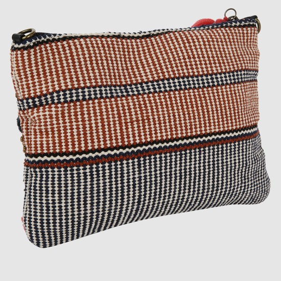 Beaded Pouch with Tassels