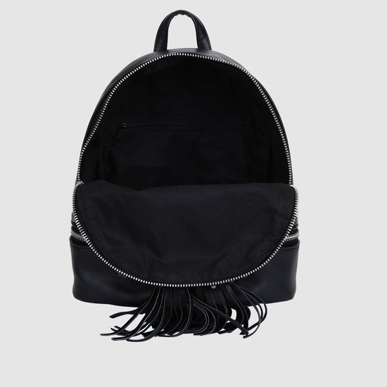 Embellished Backpack with Zip Closure