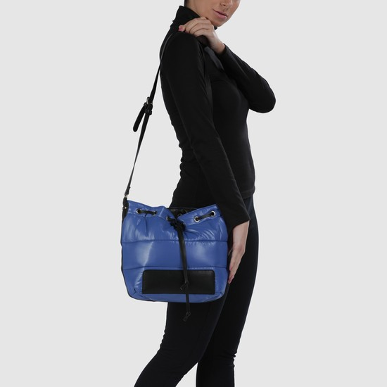 Bucket Handbag with Drawstring Closure