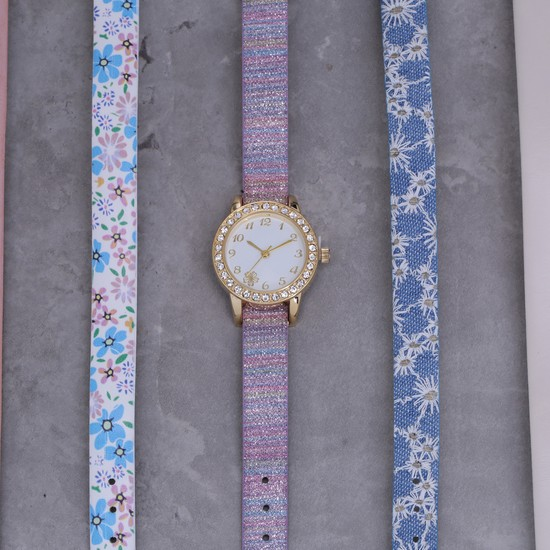 Embellished 5-Piece Wrist Watch Set