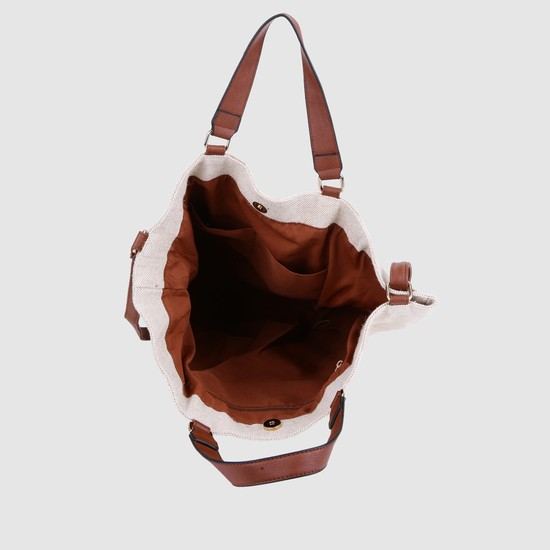 Printed Shopper Bag with Adjustable Strap