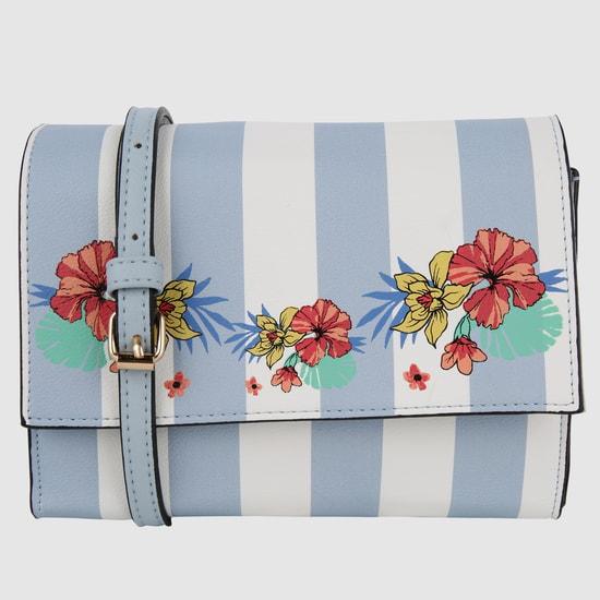 Striped Crossbody Bag