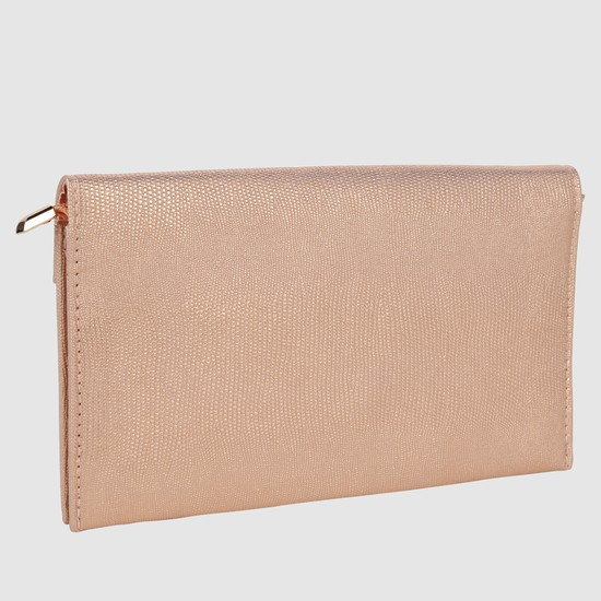 Textured Evening Clutch with Chain