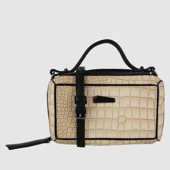 Croc Detail Crossbody Bag