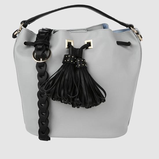 Textured Bucket Handbag