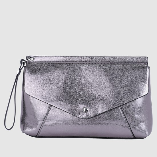 Textured Clutch with Magnetic Snap Closure