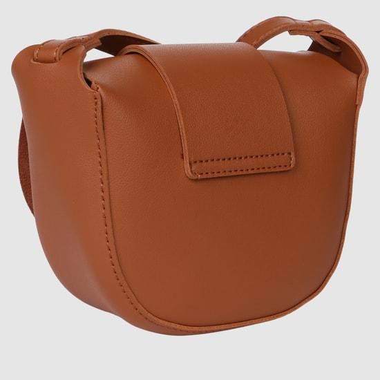 Textured Satchel Bag