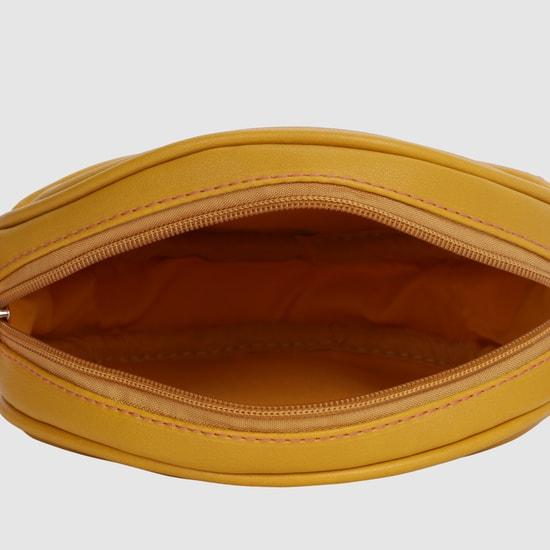 حقيبة مزخرفة بحمّالة وسحّاب إغلاق