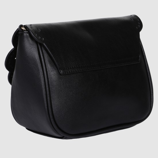 Sling Bag with Flap and Twist Lock Closure