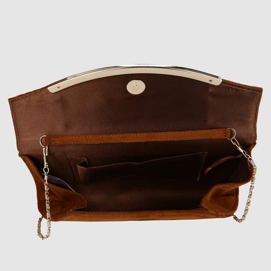 حقيبة كلاتش طويلة بلونٍ مطفي