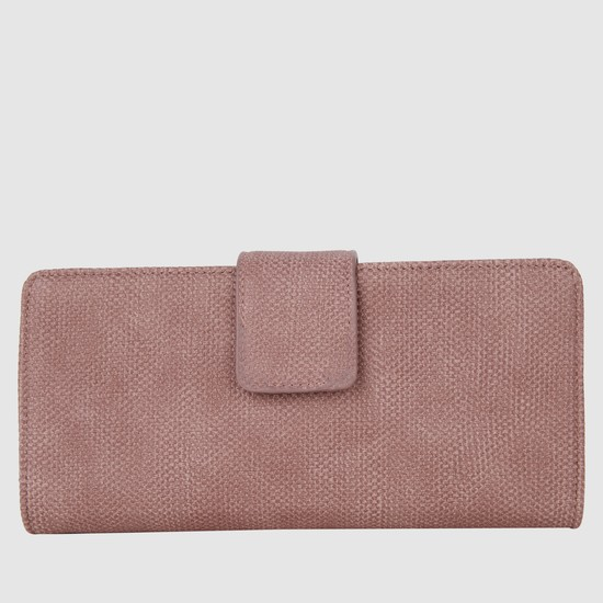 Textured Clutch with Flap