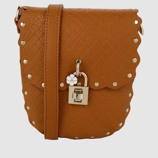 Textured Handbag Bag with Flap