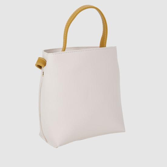 Textured Handbag with Handle