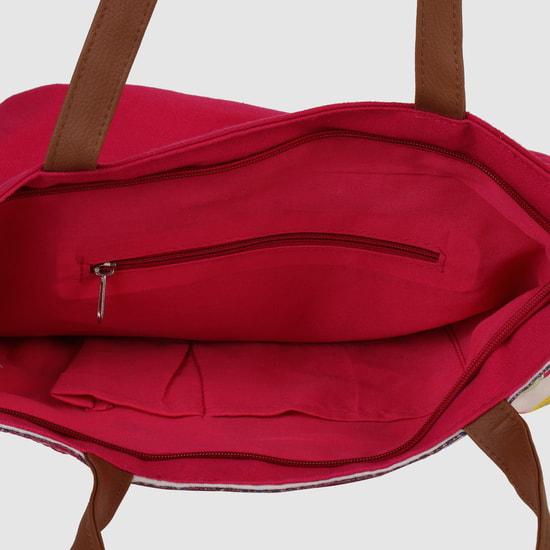 حقيبة توتي مُطرّزة بسحّاب