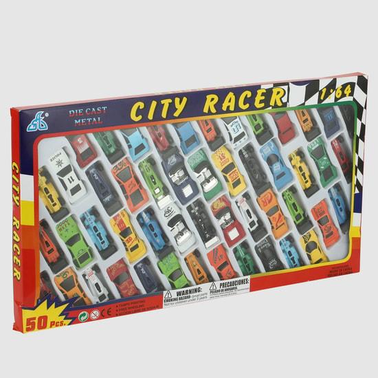 Die Cast 50-Piece City Racer Car Set