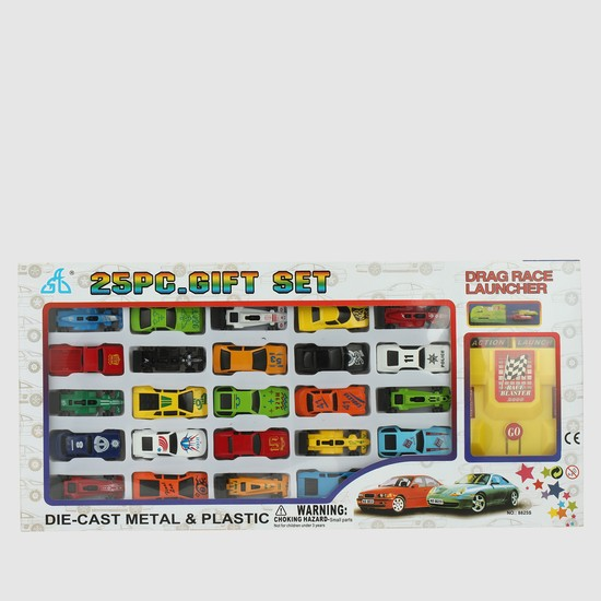25-Piece Drag Race Launcher Car Set