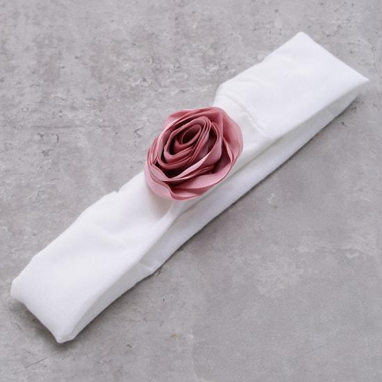 ربطة شعر مطاطية بزخارف الورود