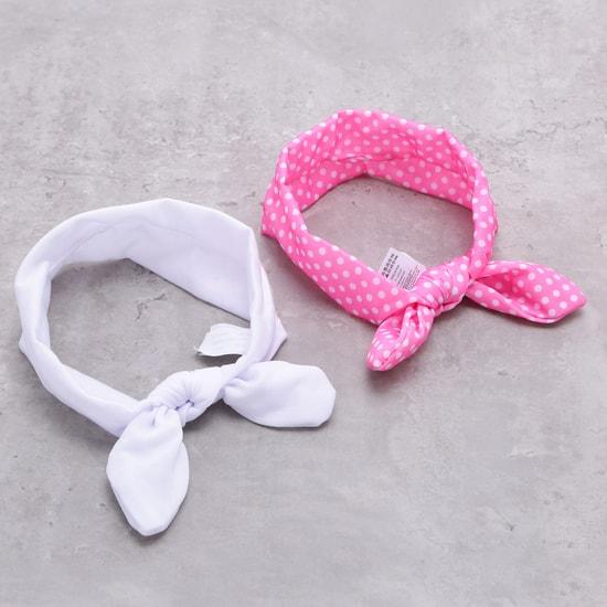 ربطة شعر مطاطية بعقدة - طقم من قطعتين