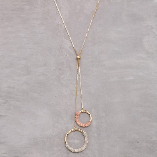 Metallic Long Necklace