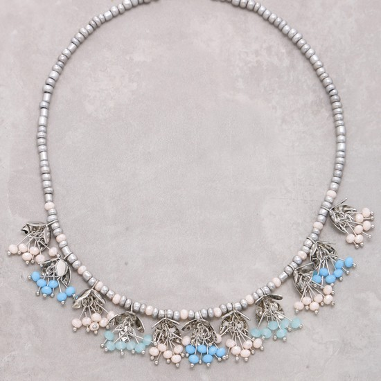 Beaded Short Necklace with Lobster Clasp