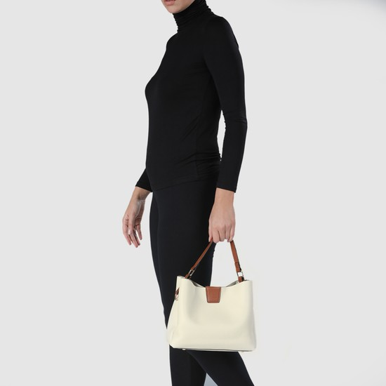 Textured Tote and Crossbody Bag Set