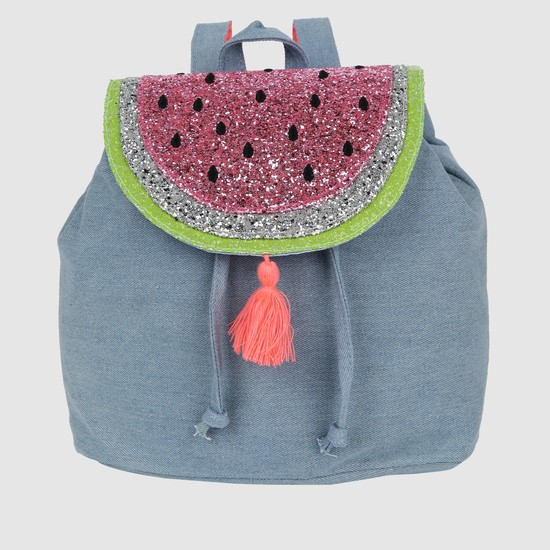 Embellished Backpack with Magnetic Snap Closure