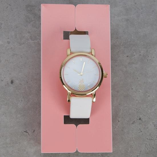 Pineapple Embossed Wrist Watch