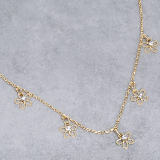 Studded Anklet with Lobster Clasp