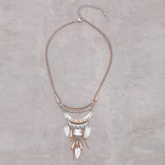 Studded Necklace with Lobster Clasp