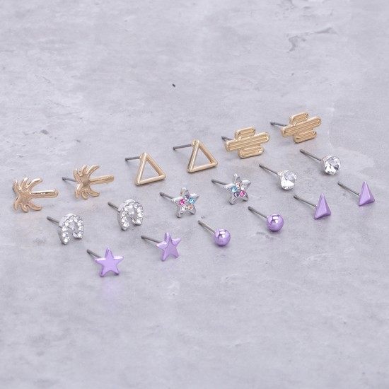 Assorted Earrings - Set of 9