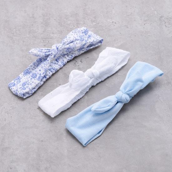 ربطة شعر مطاطية بعقدة - طقم من ثلاث