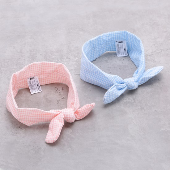 Chequered Hair Band - Set of 2