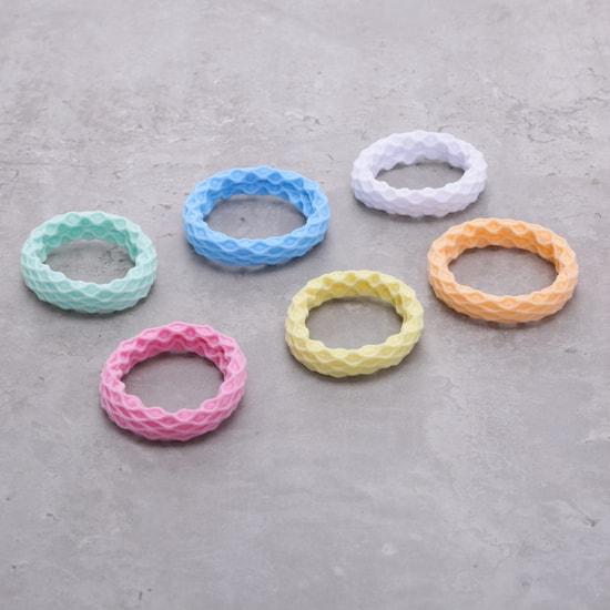 Textured Scrunchie - Set of 6
