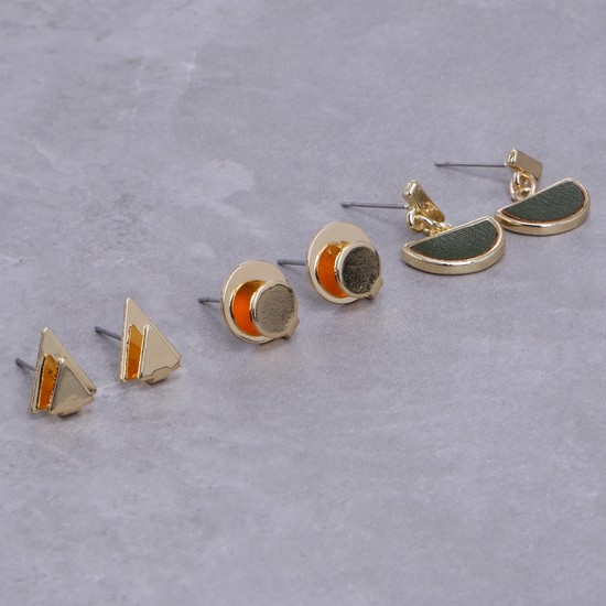 Assorted Earrings with Push Back Closure - Set of 3