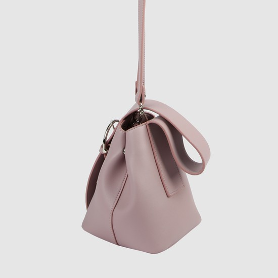 Bucket Bag with Flap and Magnetic Snap Closure