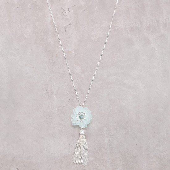 Long Necklace with Tassels and Lobster Clasp