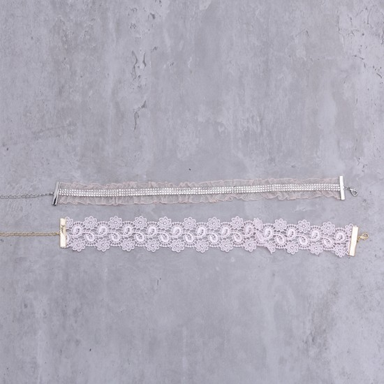 Assorted Choker with Lobster Clasp - Set of 2