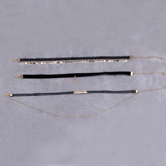 Assorted Choker Necklace - Set of 3