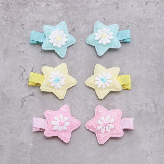 Floral Hair Clip - Set of 6
