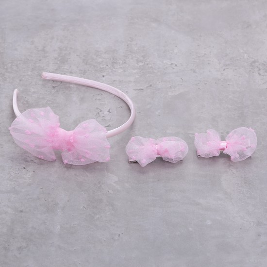 Textured Hairband and Hair Clip Set