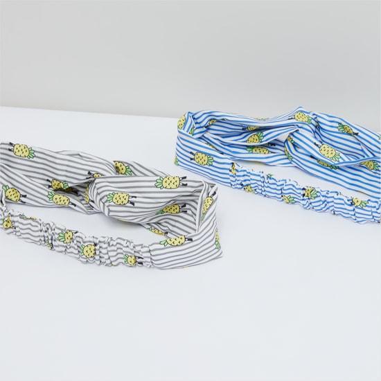Pineapple Printed Headband - Set of 2