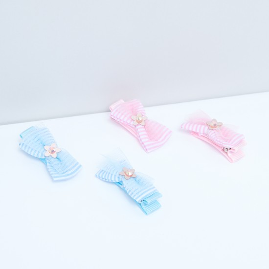 Bow Detail Hair Pin - Set of 4