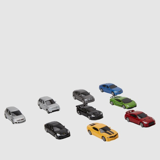 مجموعة لعبة سيارات داي كاست من 9 قطع