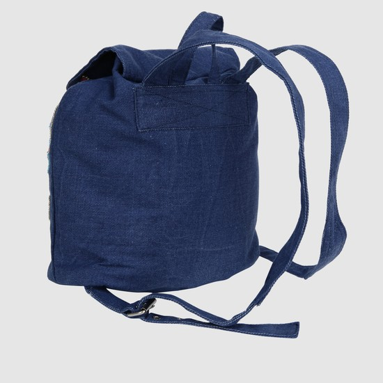 Embroidered Bucket Backpack