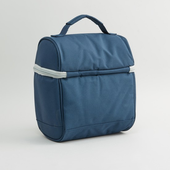 Plain Lunch Bag With Zip Closure Blue