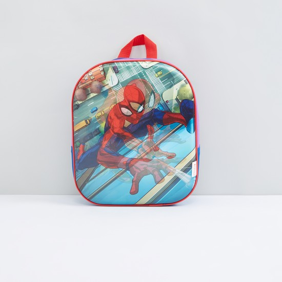 Spider-Man Printed Backpack with Zip Closure and Adjustable Straps